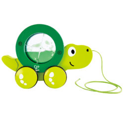 Hape Walk-A-Long Tito (Pull Along Turtle Eco Toy - Sensory Liquid Fluid)