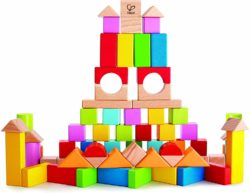 Hape My First Building Blocks (75 Colourful Wooden Bricks - Eco Toy)