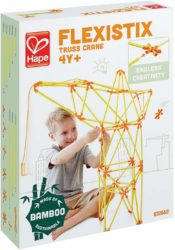 Hape Truss Crane Building Set (Flexistix Construction Bamboo Sticks Eco Toy)