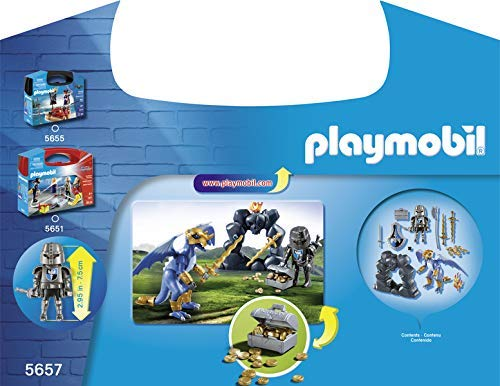 Age 4+ Playmobil 5657 Knights Dragon Knights Carry Case Play Set