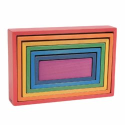TickiT Wooden Rainbow Architect Rectangles Eco Toy (Nesting Puzzle)
