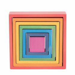 TickiT Wooden Rainbow Architect Squares Eco Toy (Nesting Puzzle)