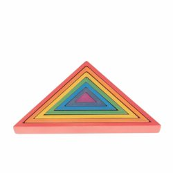 TickiT Wooden Rainbow Architect Triangles Eco Toy (Nesting Puzzle)