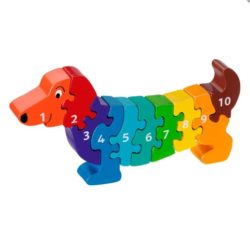 Lanka Kade Fair Trade 1-10 Dog Jigsaw Puzzle (Early Numeracy Eco Toy)