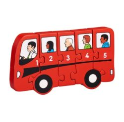 Lanka Kade Fair Trade 1-5 Bus Jigsaw Puzzle (Early Numeracy Eco Toy)