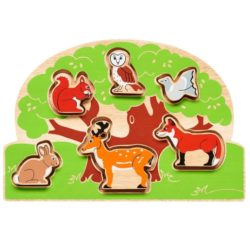 Lanka Kade Fair Trade Wooden Countryside Shape Sorter Puzzle (Early Numeracy Eco Toy)
