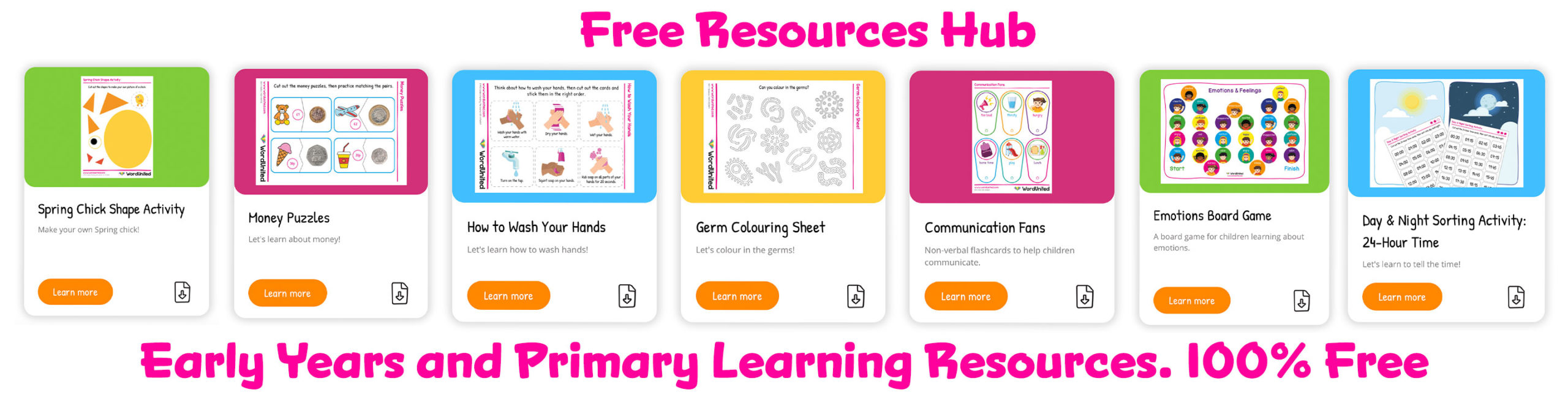 Free Printable Resources and Activities for kids